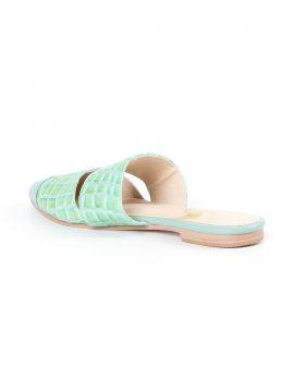 Sapato Mule Flat Verde