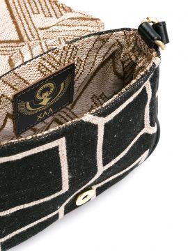 Bolsa Tuk Preta Creme Geometrica