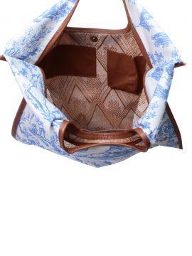 Bolsa Gaya Azul Paisagem