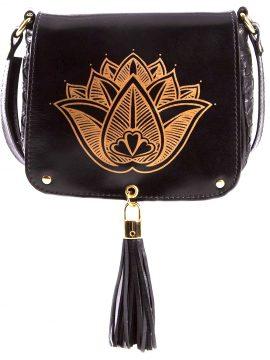 Bolsa Tuk Flor de Lotus Preta