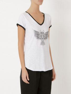 Camiseta Branca Coruja