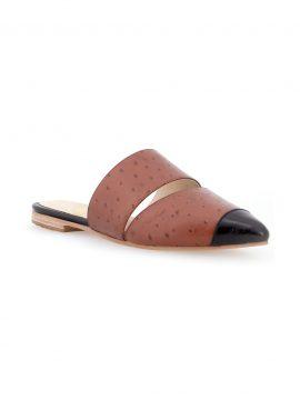 Sapato Mule Flat Marrom